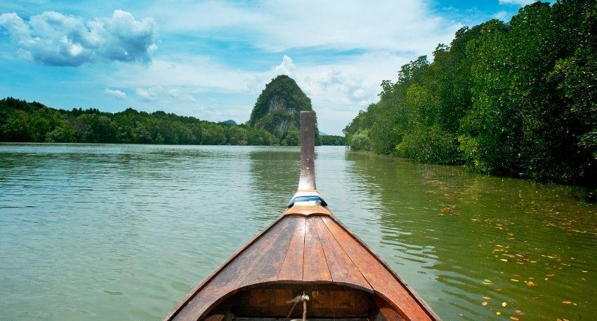 Boat in Amazon river