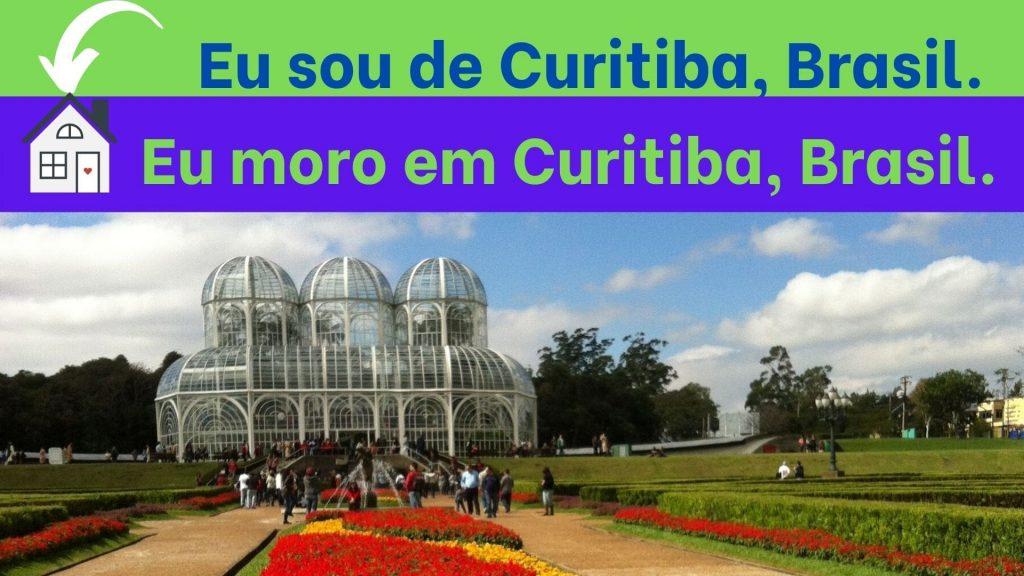 Como indicar e portugués origen y lugar de residencia