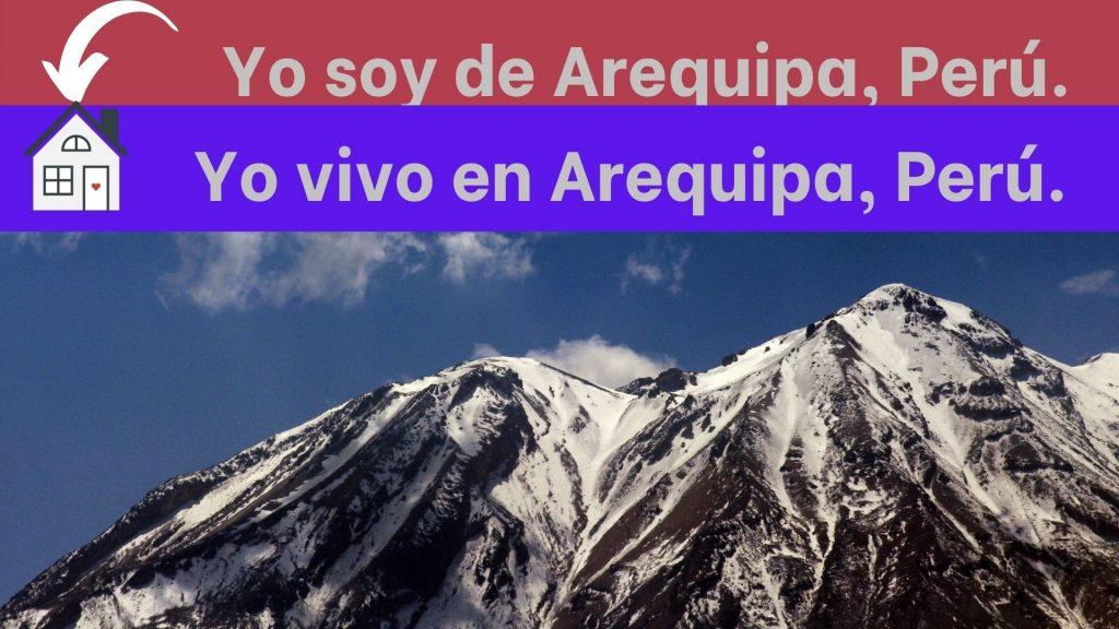 Como indicar origen y lugar de residencia en español
