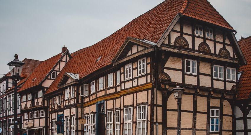 Pueblo medieval en Alemania.