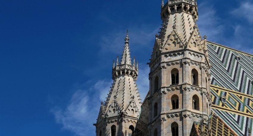 Torres de la iglesia de San Esteban en Viena
